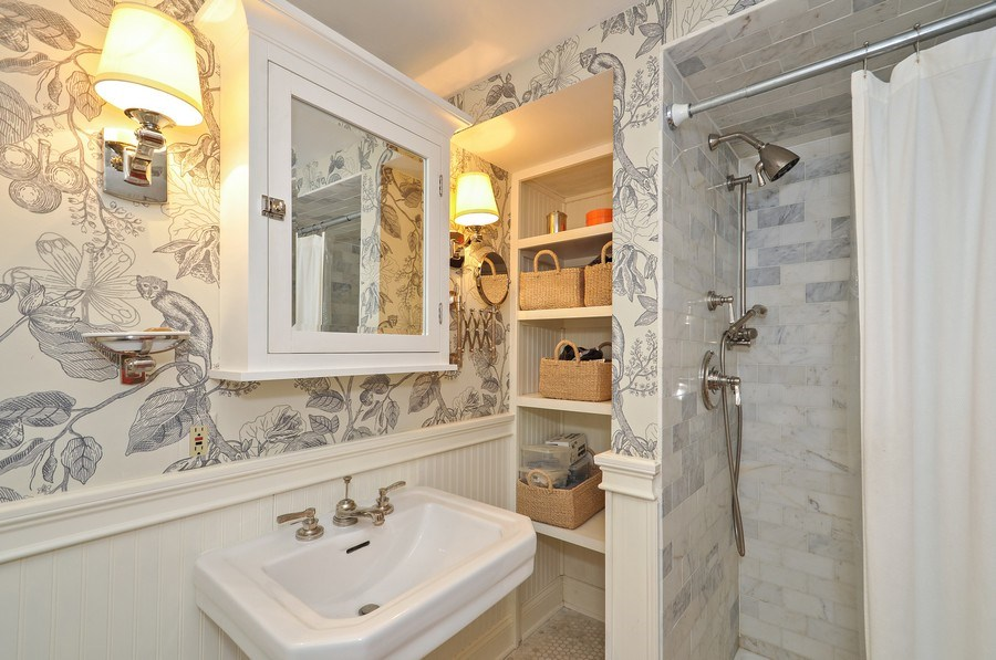 Real Estate Photography - 2041 W Byron, Chicago, IL, 60618 - Lower Level Bathroom