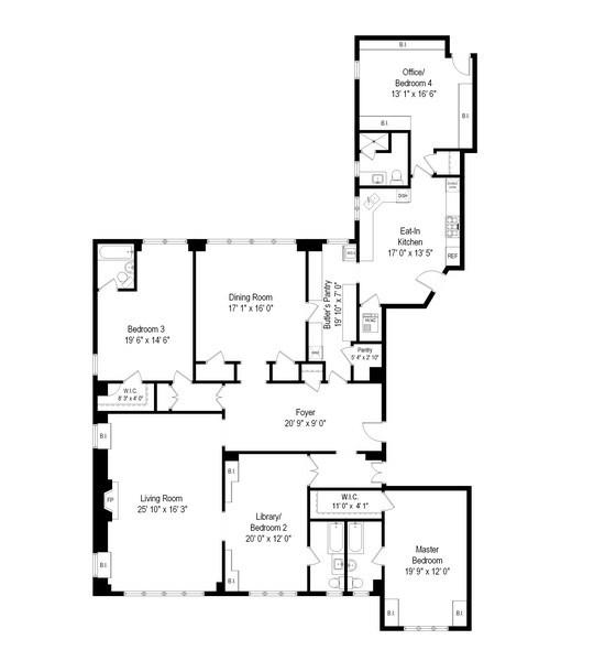 Real Estate Photography - 220 East Walton Place, Unit 9W, Chicago, IL, 60611 - Floor Plan