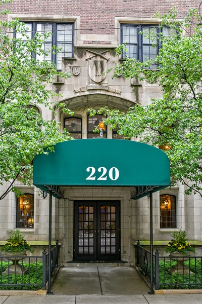 Real Estate Photography - 220 East Walton Place, Unit 9W, Chicago, IL, 60611 - Front View