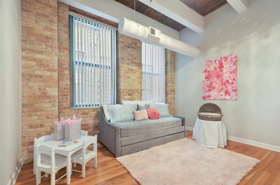 Real Estate Photography - 312 N. May #2IJ, Chicago, IL, 60607 - 2nd Bedroom