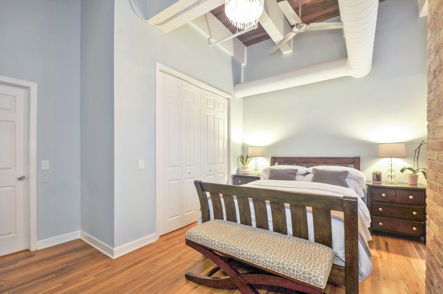 Real Estate Photography - 312 N. May #2IJ, Chicago, IL, 60607 - 3rd Bedroom