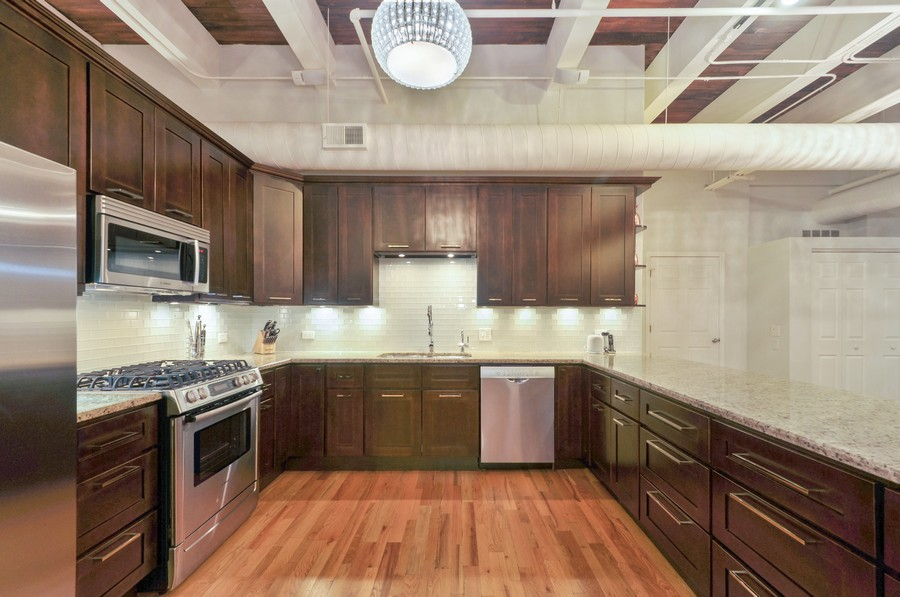 Real Estate Photography - 312 N. May #2IJ, Chicago, IL, 60607 - Kitchen