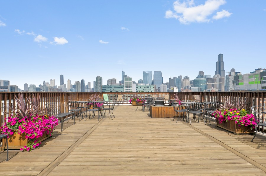 Real Estate Photography - 312 N. May #2IJ, Chicago, IL, 60607 - Roof Deck