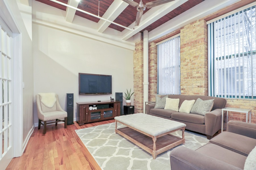 Real Estate Photography - 312 N. May #2IJ, Chicago, IL, 60607 - 4th Bedroom