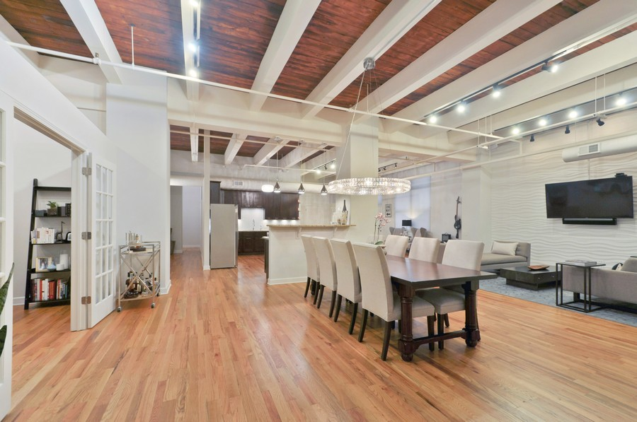 Real Estate Photography - 312 N. May #2IJ, Chicago, IL, 60607 - Kitchen / Dining Room