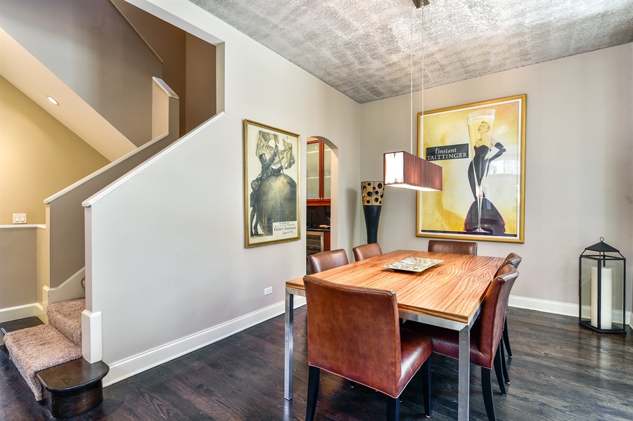 Real Estate Photography - 2340 W Wabansia, D, Chicago, IL, 60647 - Dining Room