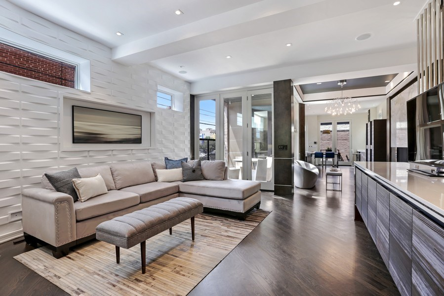 Real Estate Photography - 1544 West Henderson Street, Chicago, IL, 60657 - Great Room View 2