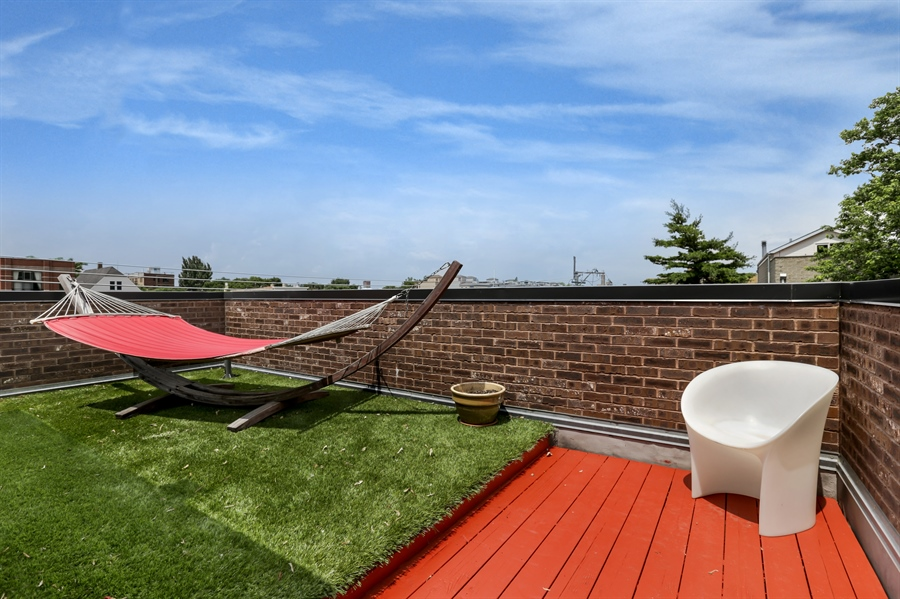 Real Estate Photography - 1544 West Henderson Street, Chicago, IL, 60657 - Rear Roof Deck