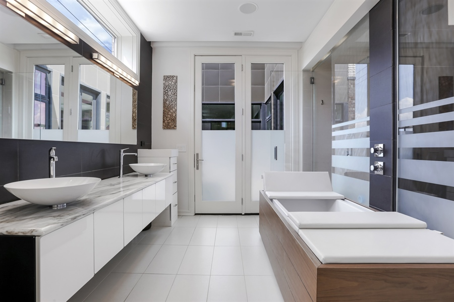 Real Estate Photography - 1544 West Henderson Street, Chicago, IL, 60657 - Master Bathroom View 1