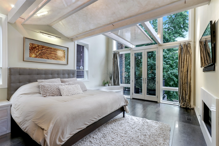 Real Estate Photography - 1544 West Henderson Street, Chicago, IL, 60657 - Master Bedroom View 1
