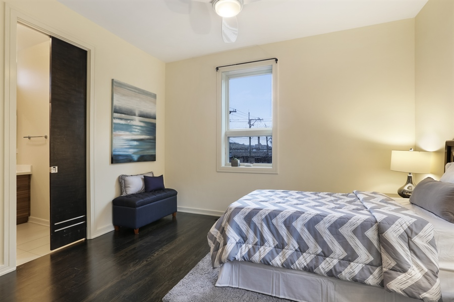 Real Estate Photography - 1544 West Henderson Street, Chicago, IL, 60657 - Second Level Bedroom 3