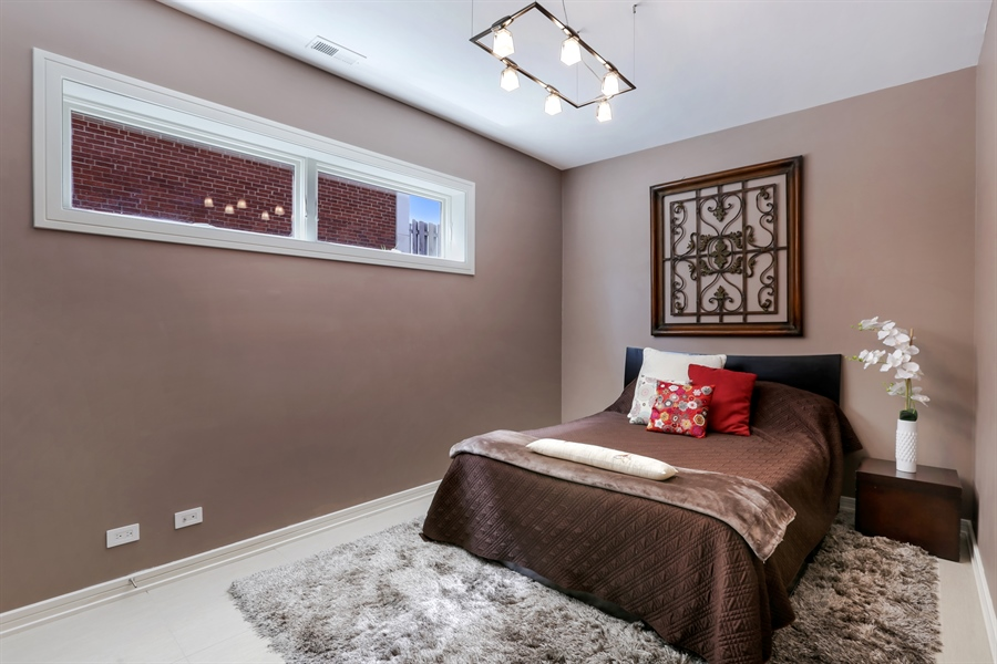 Real Estate Photography - 1544 West Henderson Street, Chicago, IL, 60657 - Lower Level Bedroom 5