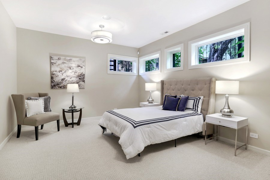 Real Estate Photography - 1544 West Henderson Street, Chicago, IL, 60657 - Lower Level Bedroom 4