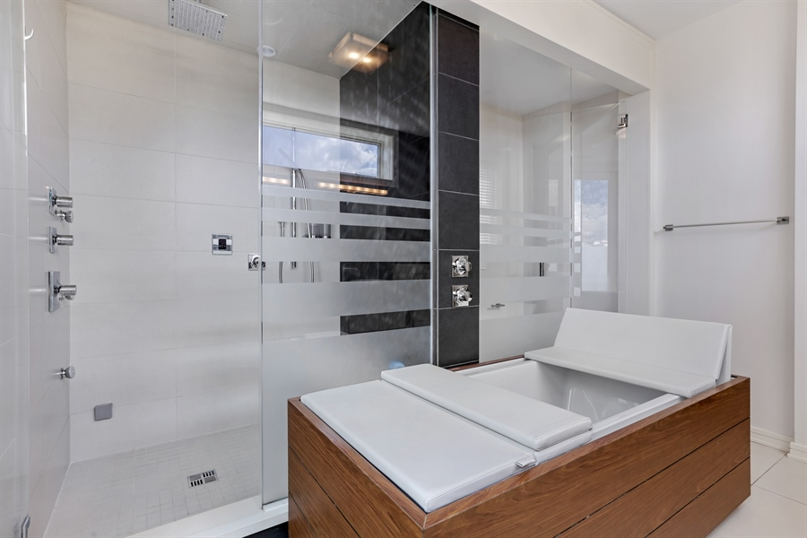 Real Estate Photography - 1544 West Henderson Street, Chicago, IL, 60657 - Master Bathroom View 2