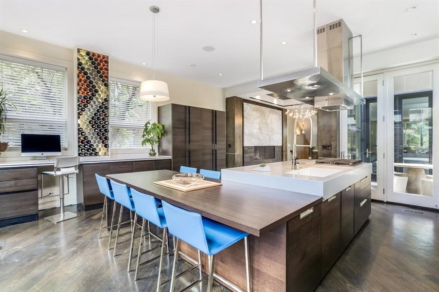 Real Estate Photography - 1544 West Henderson Street, Chicago, IL, 60657 - Kitchen Eat-In Area / Desk Niche