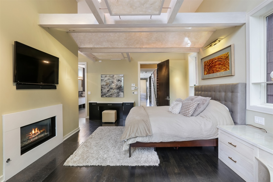 Real Estate Photography - 1544 West Henderson Street, Chicago, IL, 60657 - Master Bedroom