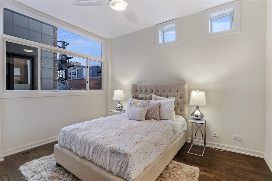 Real Estate Photography - 1544 West Henderson Street, Chicago, IL, 60657 - Second Level Bedroom 2