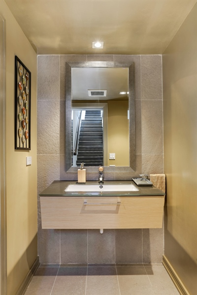 Real Estate Photography - 1544 West Henderson Street, Chicago, IL, 60657 - Main Floor Half Bathroom
