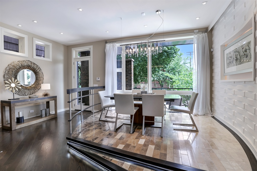 Real Estate Photography - 1544 West Henderson Street, Chicago, IL, 60657 - Dining Room/Foyer