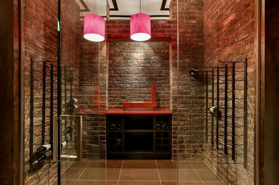 Real Estate Photography - 1544 West Henderson Street, Chicago, IL, 60657 - Lower Level Wine Cellar