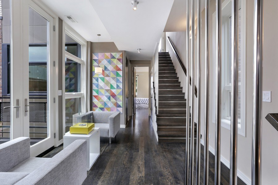 Real Estate Photography - 1544 West Henderson Street, Chicago, IL, 60657 - Second Floor Landing / Parlor 2