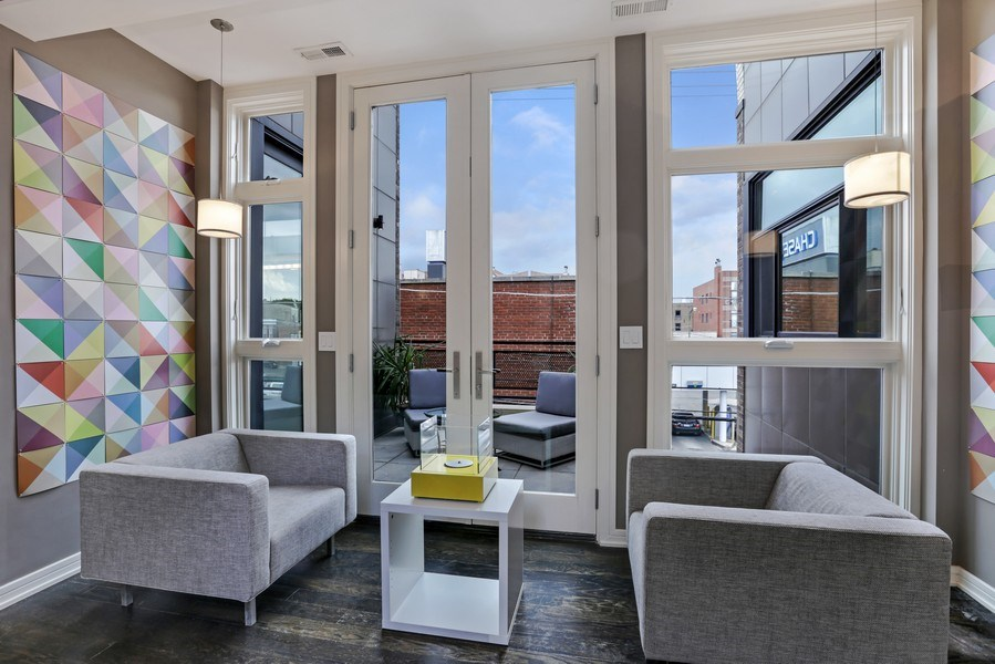 Real Estate Photography - 1544 West Henderson Street, Chicago, IL, 60657 - Second Floor Landing / Parlor 1