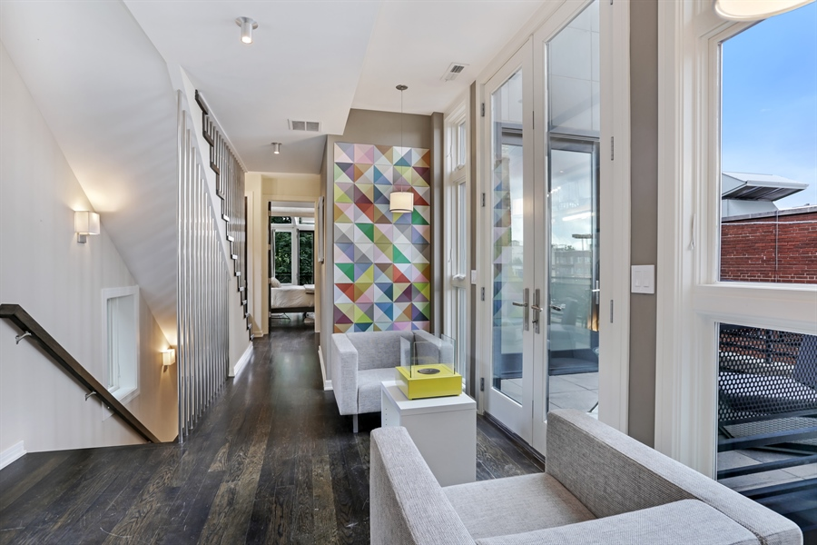 Real Estate Photography - 1544 West Henderson Street, Chicago, IL, 60657 - Second Floor Landing / Parlor 3