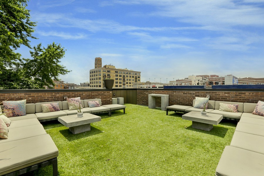 Real Estate Photography - 1544 West Henderson Street, Chicago, IL, 60657 - Front Upper Roof Deck