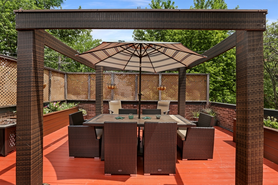 Real Estate Photography - 1544 West Henderson Street, Chicago, IL, 60657 - Garage Roof Deck