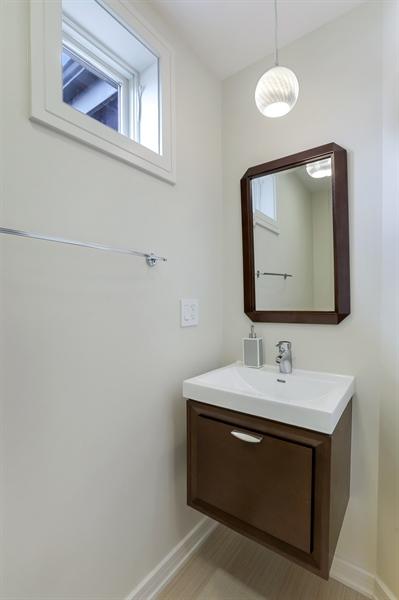 Real Estate Photography - 1544 West Henderson Street, Chicago, IL, 60657 - Third Level Half Bathroom