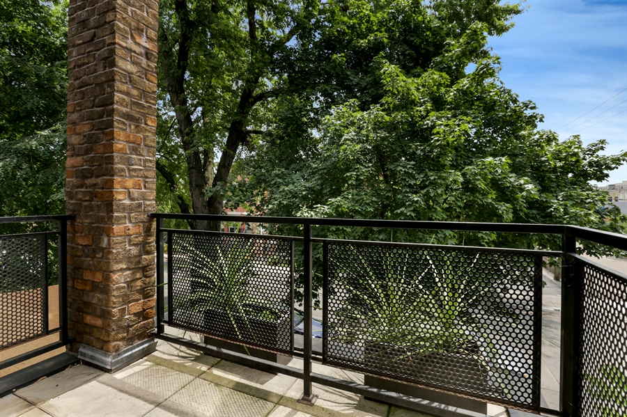 Real Estate Photography - 1544 West Henderson Street, Chicago, IL, 60657 - Master Bedroom Balcony
