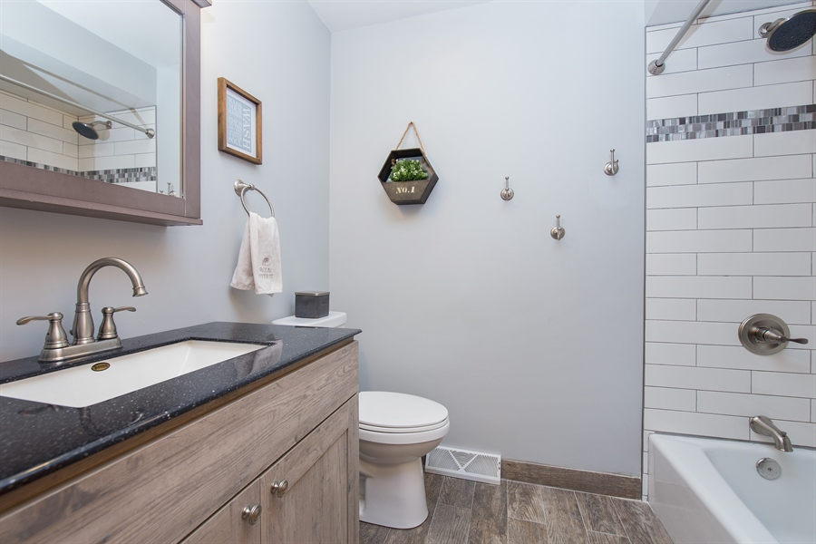 Real Estate Photography - 402 N Lombard, Lombard, IL, 60148 - 2nd Bathroom