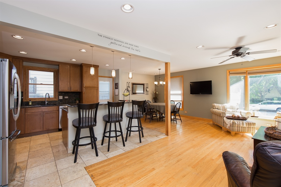 Real Estate Photography - 402 N Lombard, Lombard, IL, 60148 - Kitchen / Living Room
