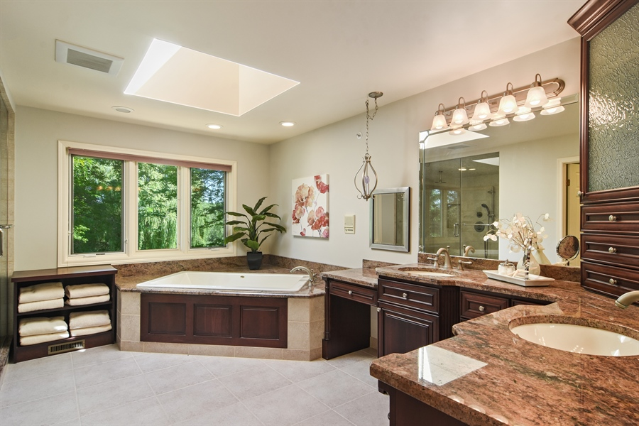 Real Estate Photography - 6255 Pine Tree Drive, Long Grove, IL, 60047 - Master Bathroom