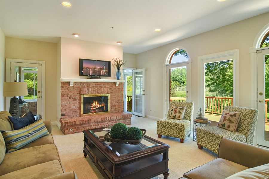 Real Estate Photography - 6255 Pine Tree Drive, Long Grove, IL, 60047 - Family Room