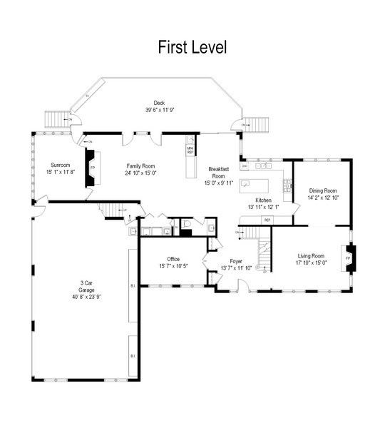 Real Estate Photography - 6255 Pine Tree Drive, Long Grove, IL, 60047 - Floor Plan