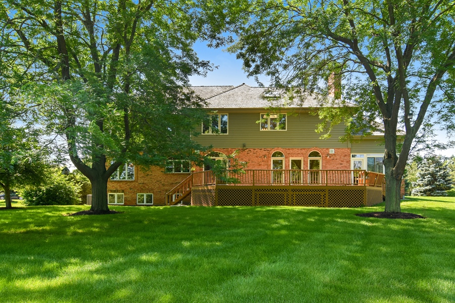 Real Estate Photography - 6255 Pine Tree Drive, Long Grove, IL, 60047 - Rear View