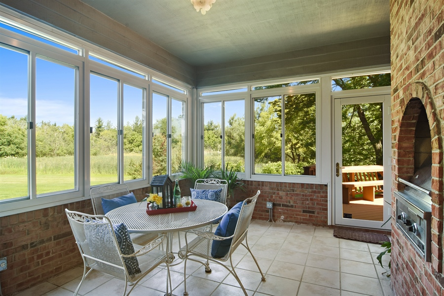 Real Estate Photography - 6255 Pine Tree Drive, Long Grove, IL, 60047 - Sun Room