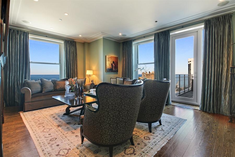 Real Estate Photography - 159 E Walton, Unit 19B, Chicago, IL, 60611 - Living Room