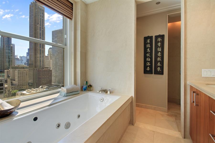 Real Estate Photography - 159 E Walton, Unit 19B, Chicago, IL, 60611 - Master Bathroom