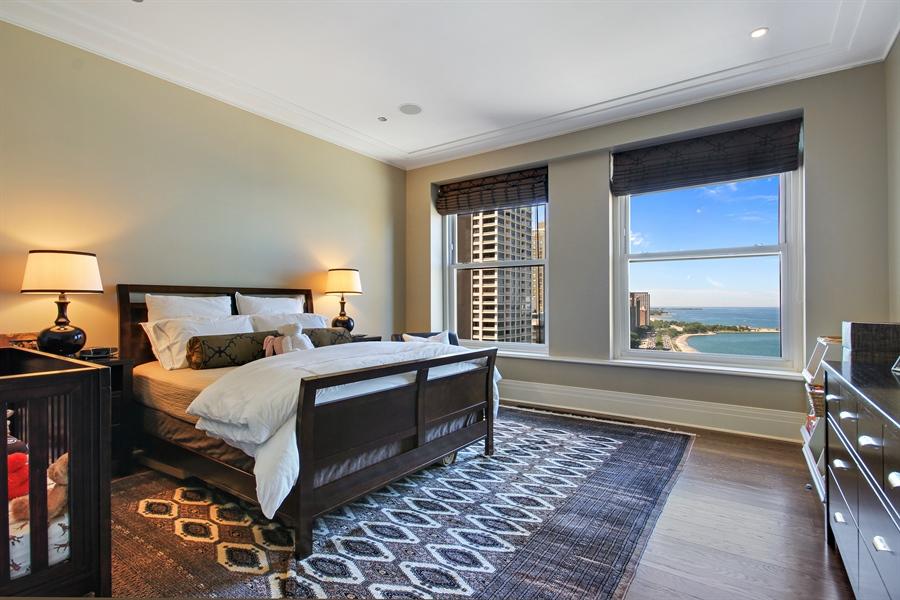 Real Estate Photography - 159 E Walton, Unit 19B, Chicago, IL, 60611 - Bedroom