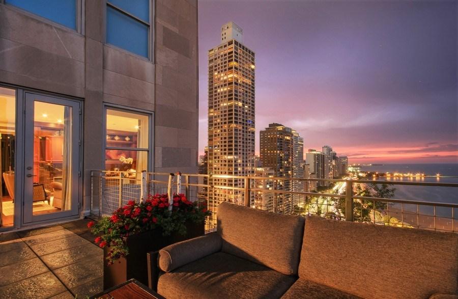Real Estate Photography - 159 E Walton, Unit 19B, Chicago, IL, 60611 - Deck