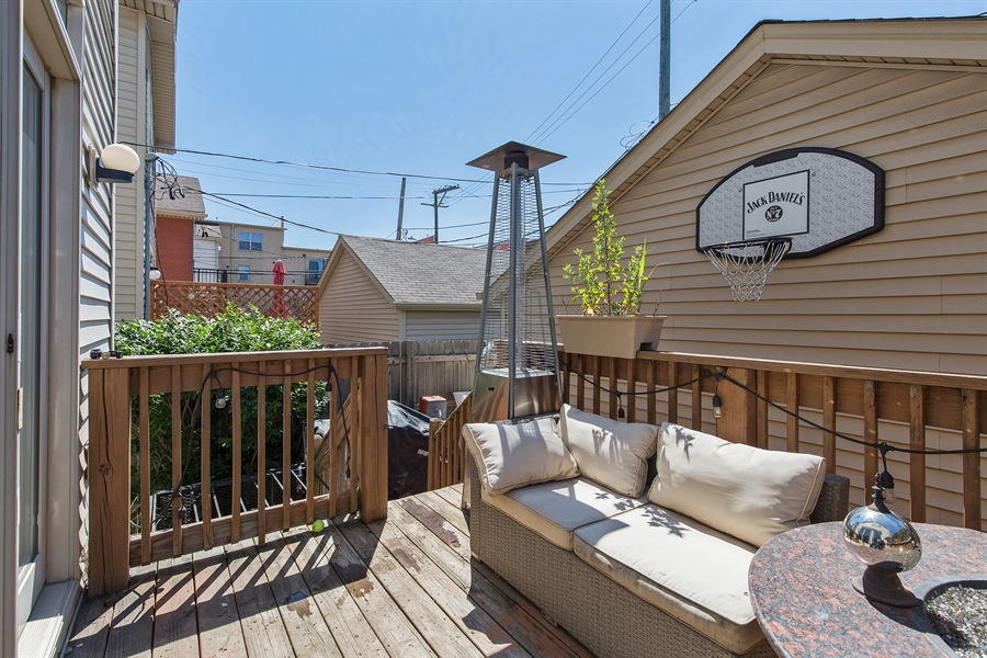 Real Estate Photography - 2419 W Gladys, Chicago, IL, 60612 - Deck