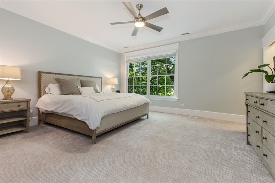 Real Estate Photography - 978 Cherry, Winnetka, IL, 60093 - Master Bedroom