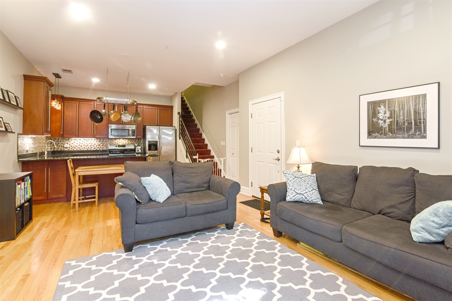 Real Estate Photography - 4226 N. Ashland Ave., 1A, Chicago, IL, 60613 - Kitchen / Living Room