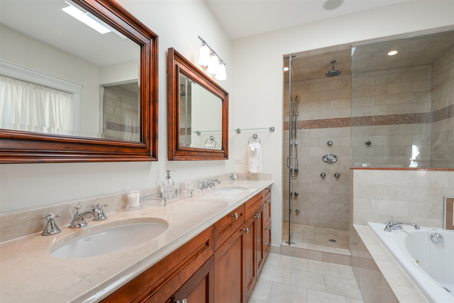 Real Estate Photography - 1232 Wellington, Chicago, IL, 60657 - Master Bathroom