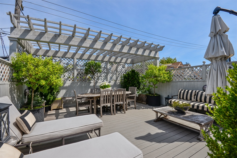 Real Estate Photography - 1232 Wellington, Chicago, IL, 60657 - Roof Deck