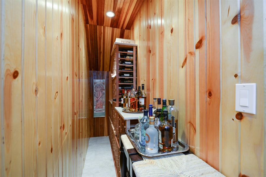 Real Estate Photography - 1232 Wellington, Chicago, IL, 60657 - Wine Cellar
