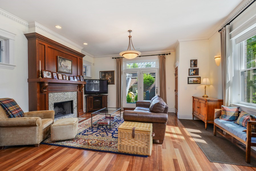 Real Estate Photography - 1232 Wellington, Chicago, IL, 60657 - Family Room