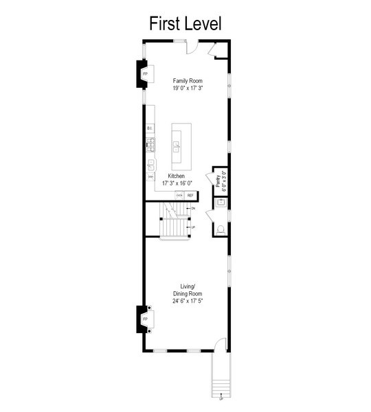 Real Estate Photography - 1232 Wellington, Chicago, IL, 60657 - Floor Plan